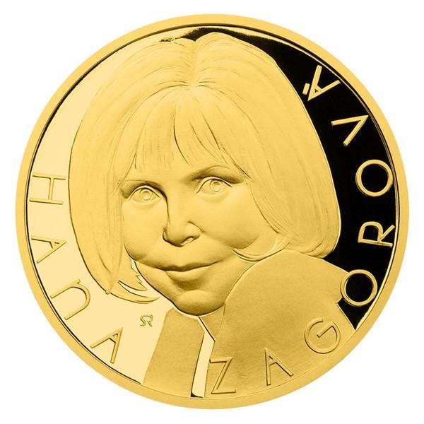 Zlatá uncová medaile Hana Zagorová proof