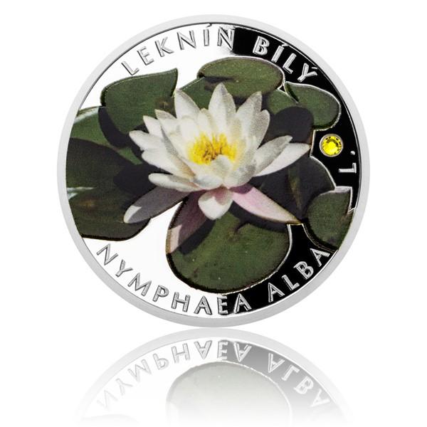 Stříbrná mince Ohrožená příroda - Leknín bílý proof