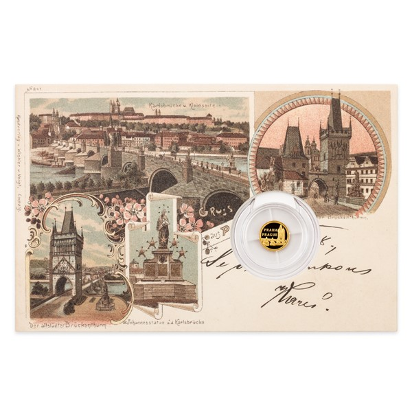 Zlatá mince Praha – Karlův most proof