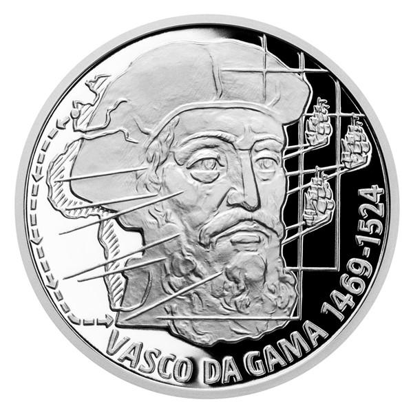 Stříbrná mince Na vlnách - Vasco da Gama proof