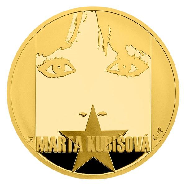 Zlatá půluncová medaile Marta Kubišová proof číslováno