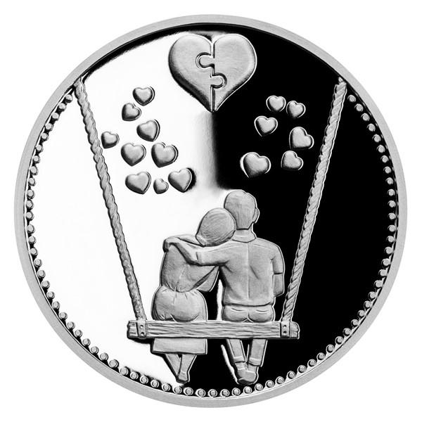 Stříbrná medaile Navždy spolu proof