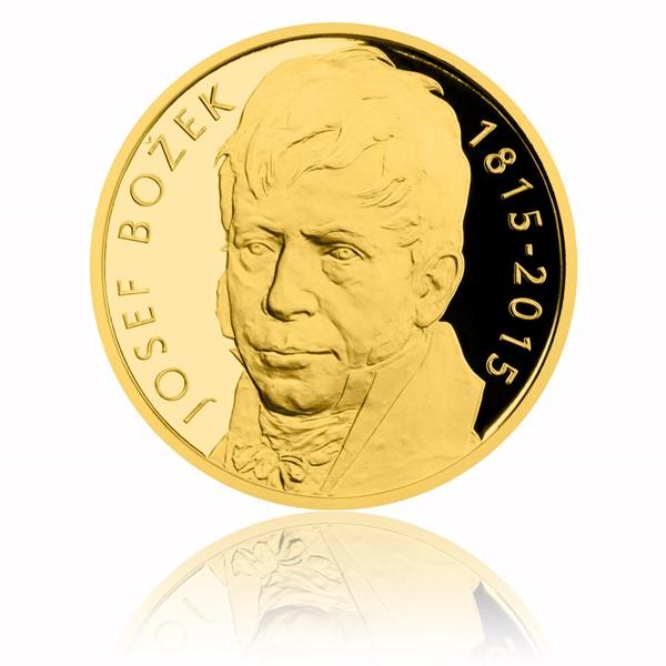 Zlatá půluncová medaile Josef Božek proof