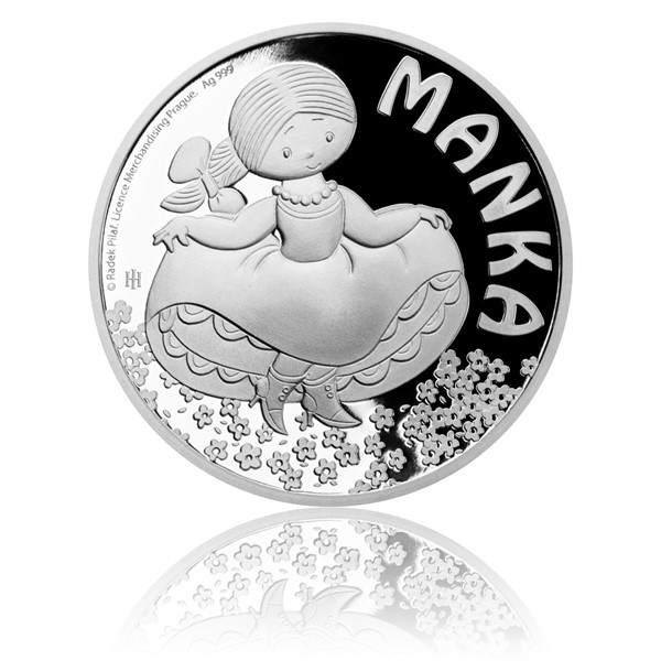 Stříbrná mince Manka proof