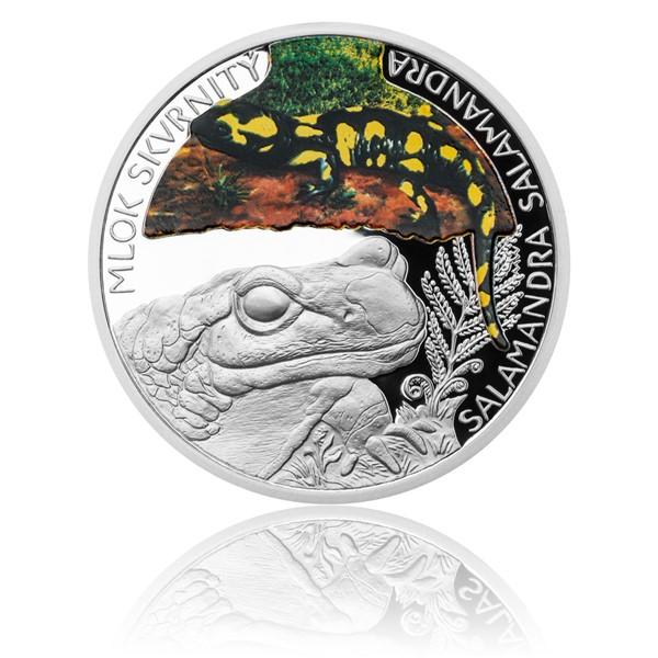 Stříbrná mince Ohrožená příroda - Mlok skvrnitý proof