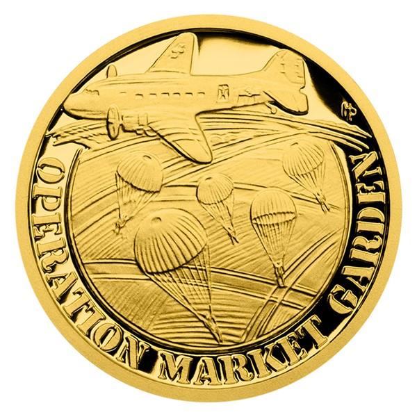 Zlatá mince Válečný rok 1944 - Operace Market Garden proof
