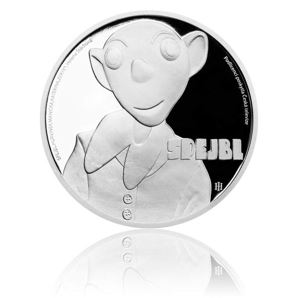 Stříbrná mince Spejbl proof