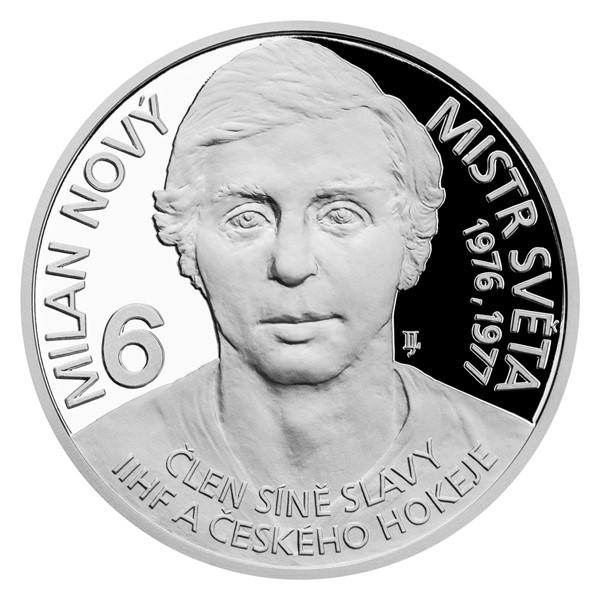 Stříbrná mince Legendy čs. hokeje - Milan Nový proof