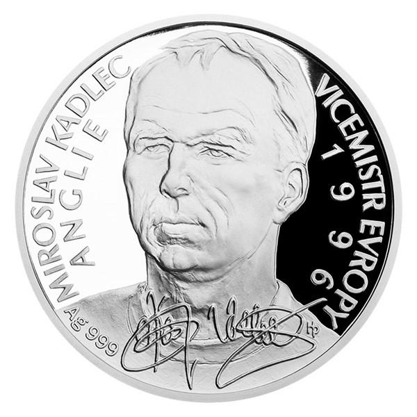Stříbrná mince Miroslav Kadlec proof