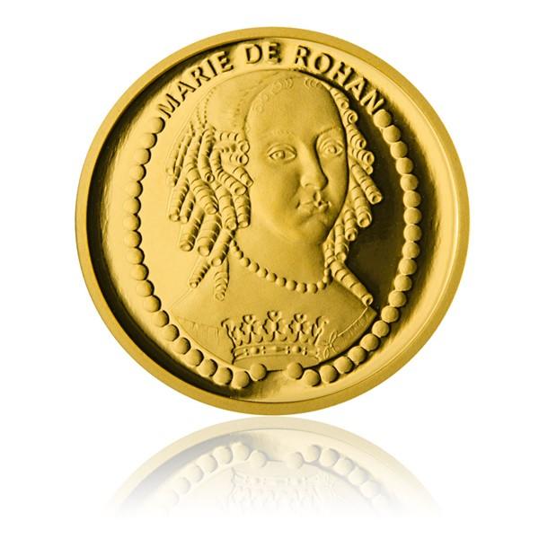 Sada čtyř zlatých investičních mincí Šlechtický rod Rohanů proof