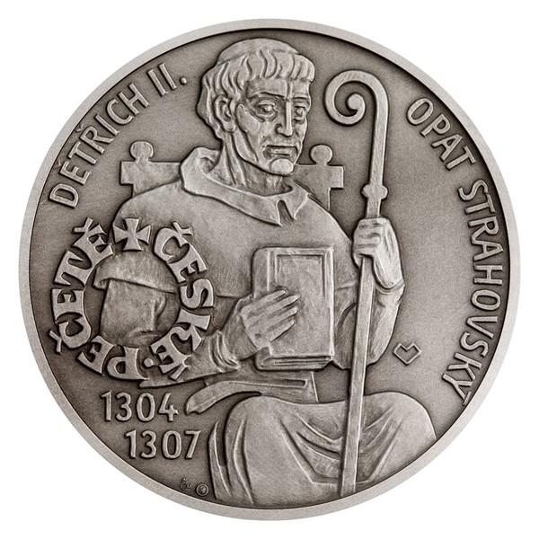 Stříbrná medaile České pečetě - Opat Strahovského kláštera v Praze stand