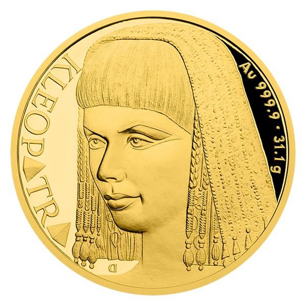 Zlatá uncová mince Osudové ženy - Kleopatra proof