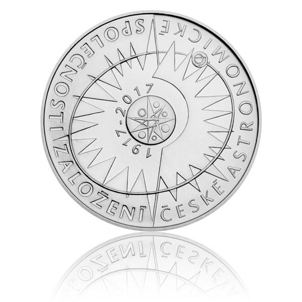 Stříbrná mince 200 Kč 2017 Založení České astronomické společnosti stand