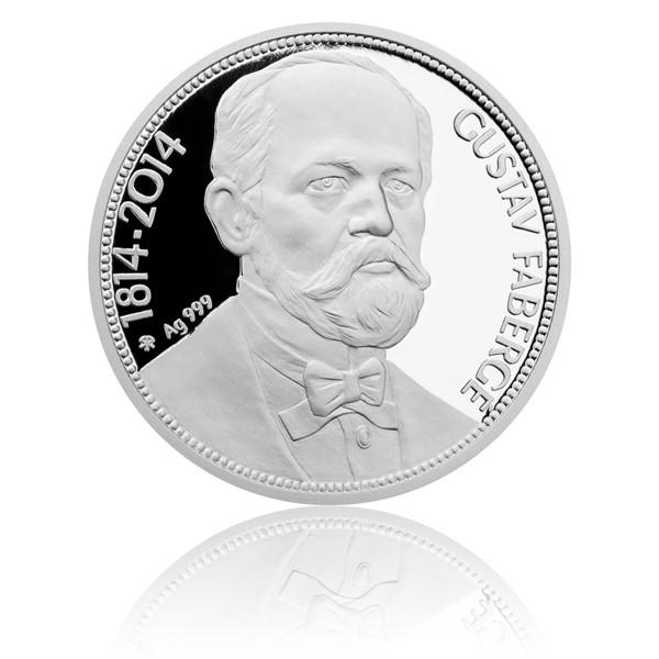 Stříbrná mince Gustav Fabergé proof