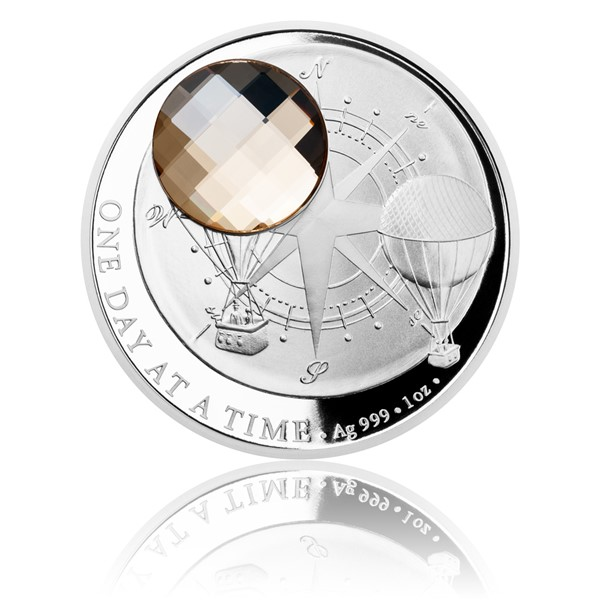 Stříbrná mince CRYSTAL COIN - One Day at a Time - Honey proof