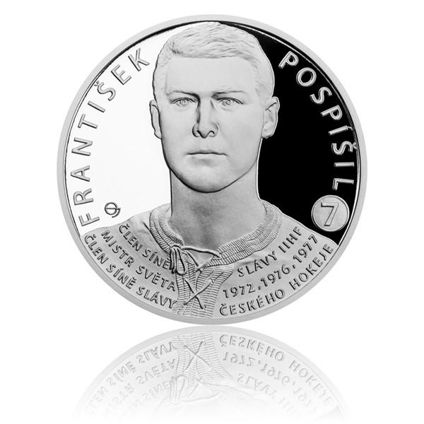 Stříbrná mince Legendy čs. hokeje - František Pospíšil proof