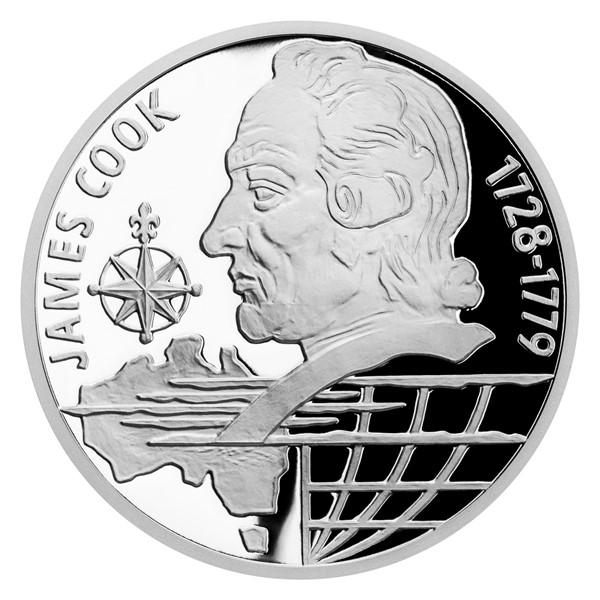 Stříbrná mince Na vlnách - James Cook proof