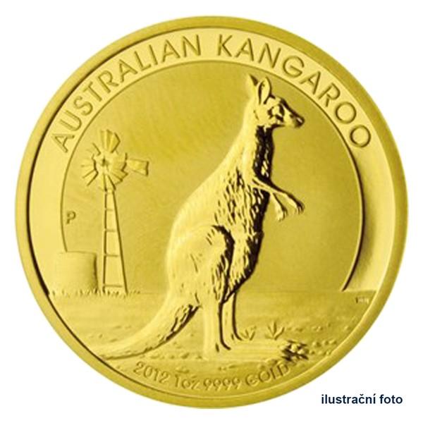 Zlatá investiční mince 1 Oz 100 AUD Austrálie - klokan proof