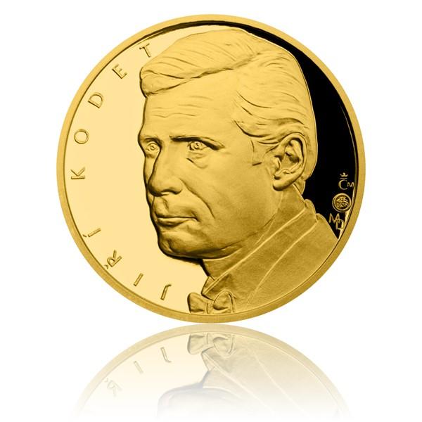 Zlatá čtvrtuncová medaile Hvězdy stříbrného plátna - Jiří Kodet proof