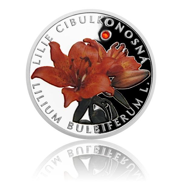 Stříbrná mince Ohrožená příroda - Lilie cibulkonosná proof