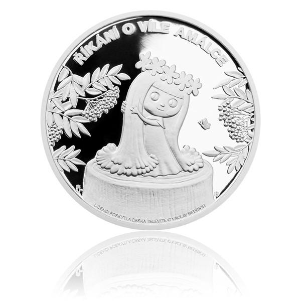 Stříbrná mince Víla Amálka proof