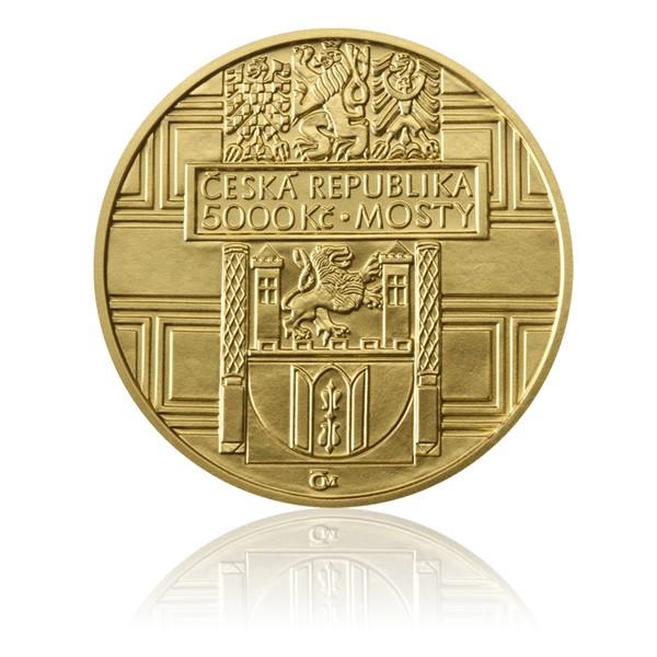 Zlatá mince 5000 Kč 2011 Renesanční most ve Stříbře stand