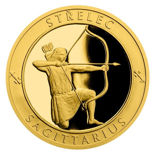 Zlatý dukát Znamení zvěrokruhu s věnováním - Střelec proof