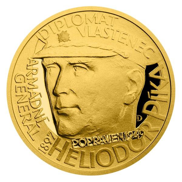 Dukát Národní hrdinové - Heliodor Píka proof