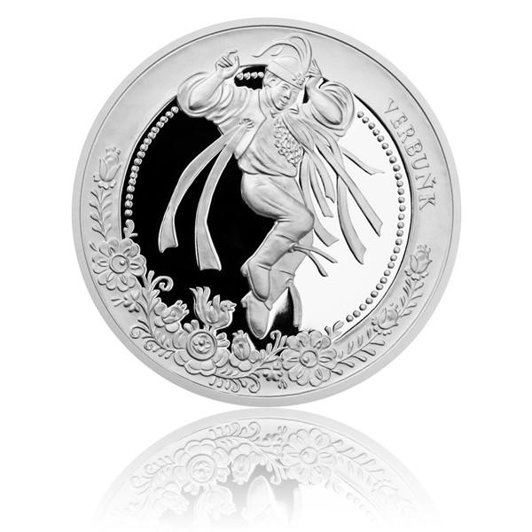 Stříbrná mince České tradice UNESCO - Slovácký verbuňk proof