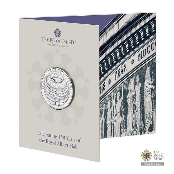 Pamětní mince 150. výročí Royal Albert Hall UK 2021 brilliant