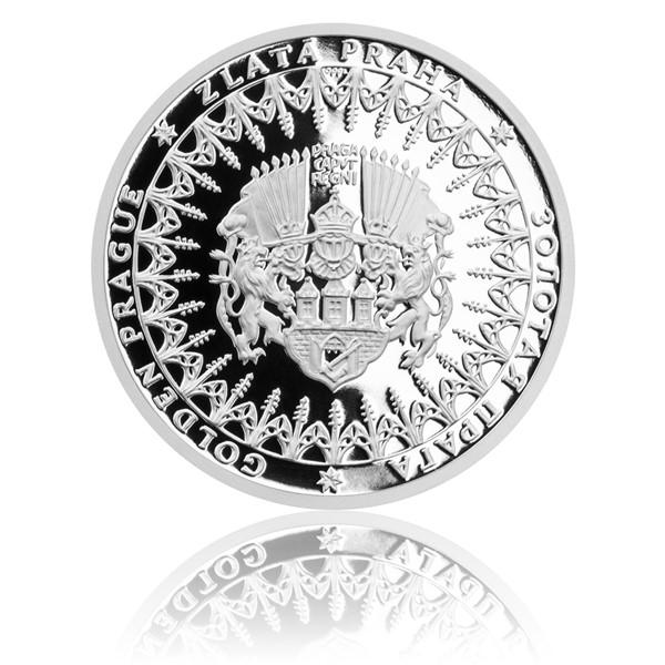 Stříbrná mince Zlatá Praha proof