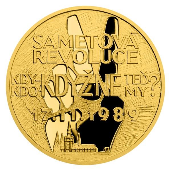 Zlatá mince Cesta za svobodou - Sametová revoluce proof