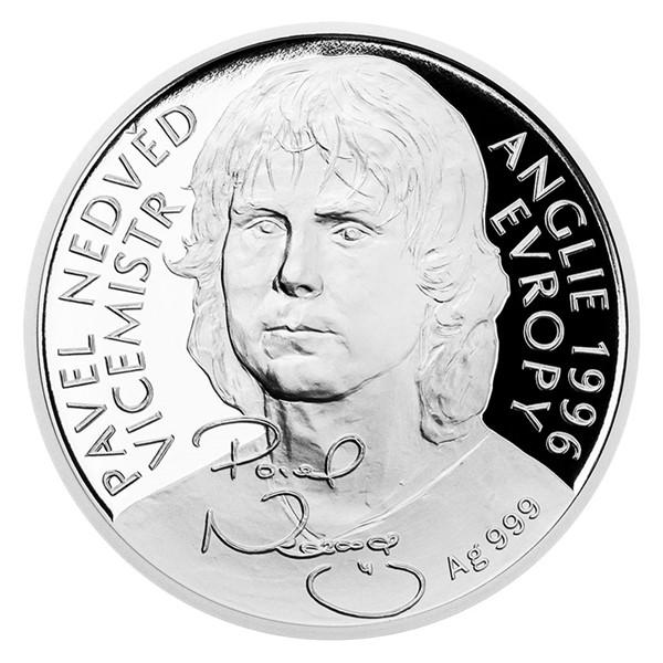 Stříbrná mince Pavel Nedvěd proof