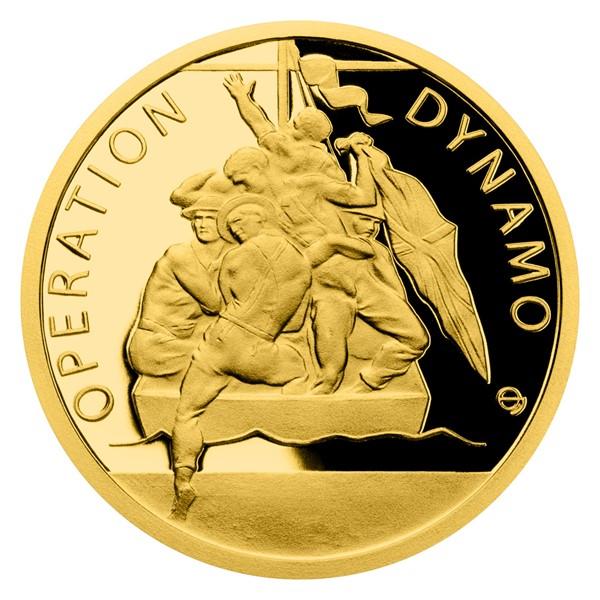 Zlatá mince Válečný rok 1940 - Operace Dynamo proof