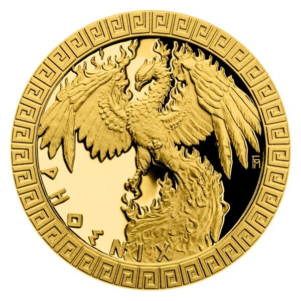 Zlatá mince Bájní tvorové - Fénix proof