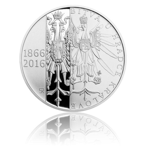Stříbrná mince 200 Kč 2016 Bitva u Hradce Králové proof