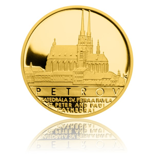 Zlatý dukát Památky Brna - Petrov proof