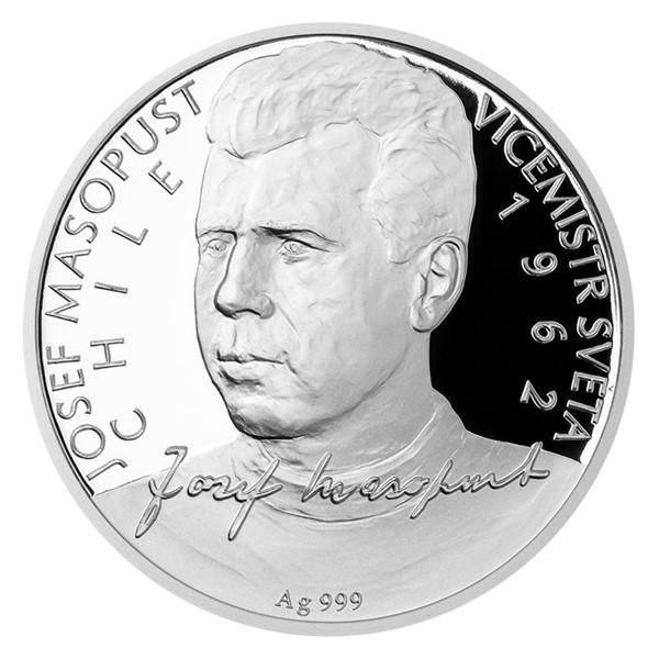 Stříbrná mince Josef Masopust proof