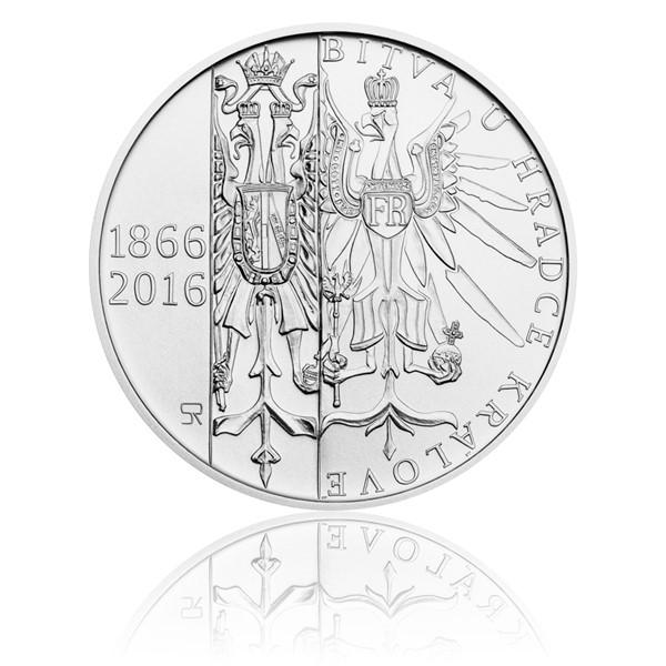 Stříbrná mince 200 Kč 2016 Bitva u Hradce Králové stand