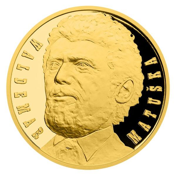 Zlatá půluncová medaile Waldemar Matuška proof číslováno