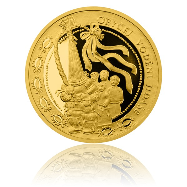 Zlatá mince České tradice UNESCO - Vodění Jidáše proof