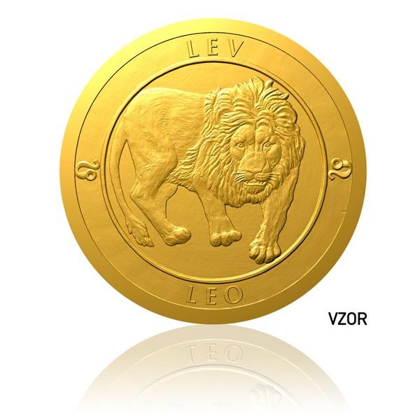 Zlatý dukát Znamení zvěrokruhu - Lev proof