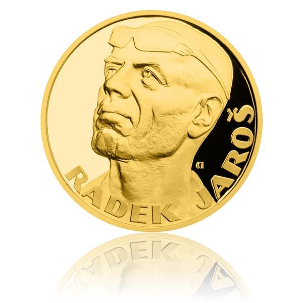Zlatá čtvrtuncová medaile Radek Jaroš proof