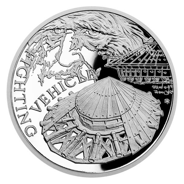 Stříbrná mince Vynálezy Leonarda da Vinci - Tank proof