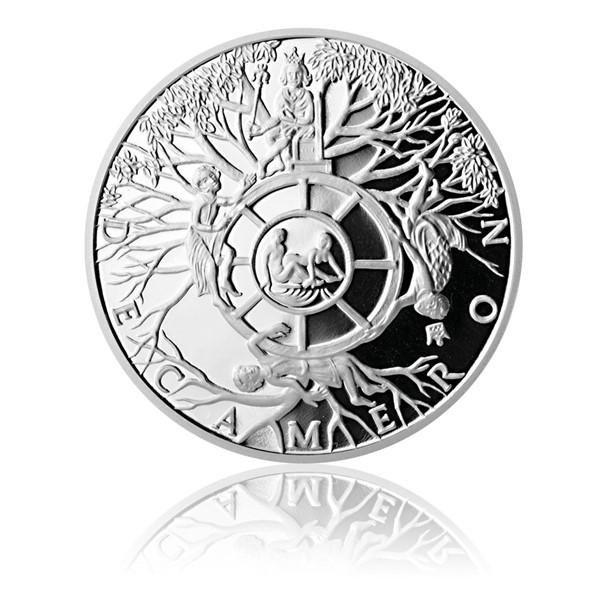 Stříbrná medaile Dekameron den druhý - Kolo osudu proof