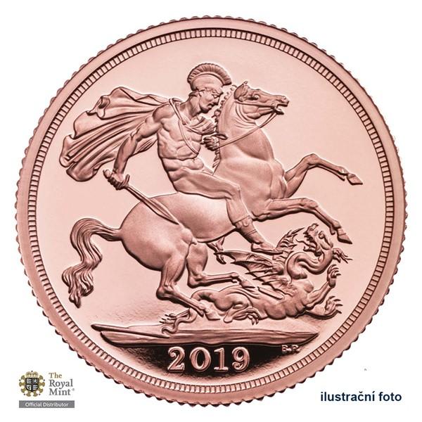 Zlatá investiční mince Sovereign