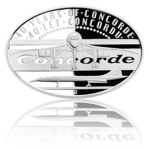 Stříbrná mince 40 let Concordu proof