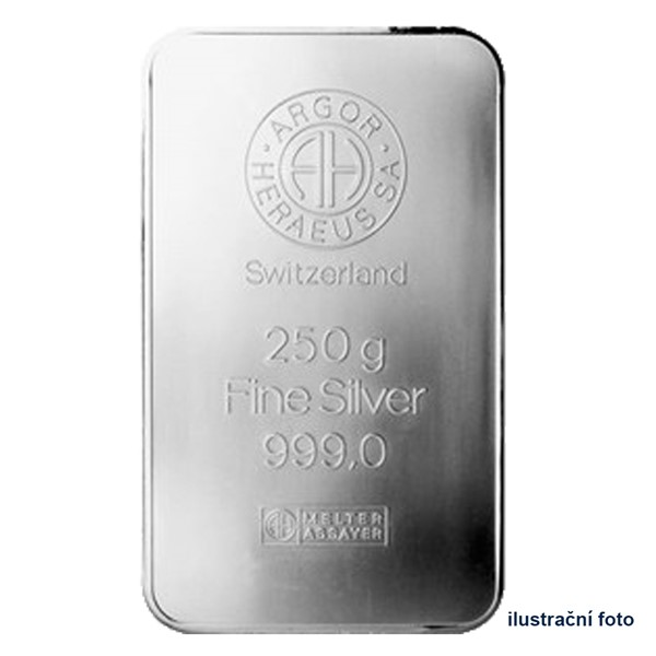 Investiční stříbrná cihla 250 g - Argor Heraeus