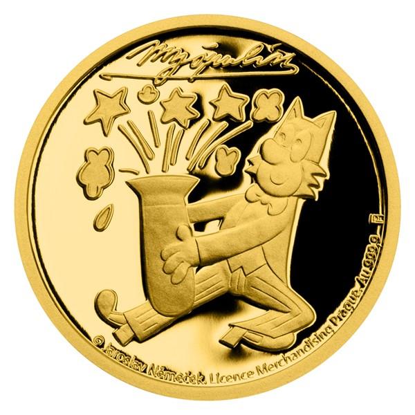 Zlatá mince Čtyřlístek - Myšpulín proof