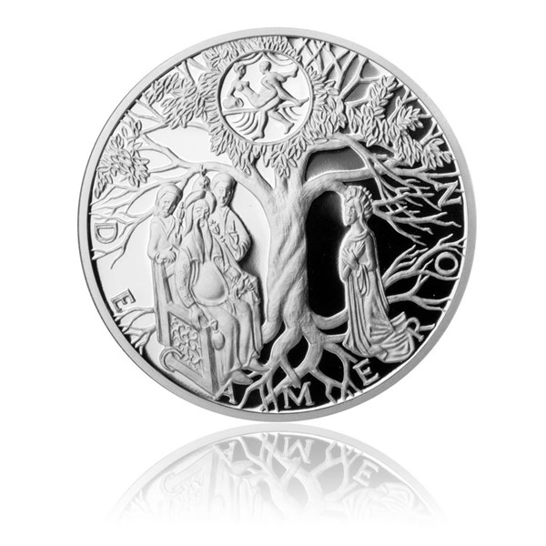 Stříbrná medaile Dekameron den první - Gaskoňská paní proof